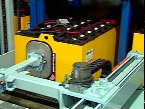 Forklift Battery Handling System, Battery Extraction