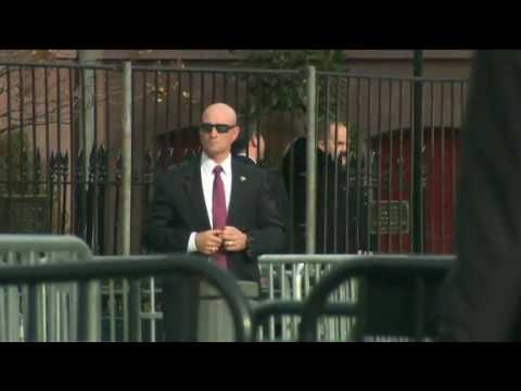 Video of President-elect Trump arriving at Blair House