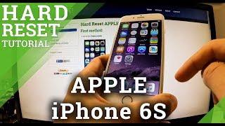 Hard Reset APPLE iPhone 6S  - Factory Reset via the Settings menu