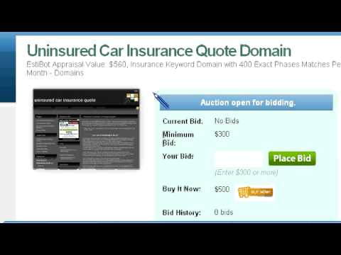 Listing Overview – Uninsured Car Insurance Quote Domain