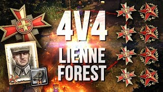 CLASSIC BIG TANK BATTLES vs SU-85 Hordes [4v4] [OST] [Lienne Forest] — Company of Heroes 2