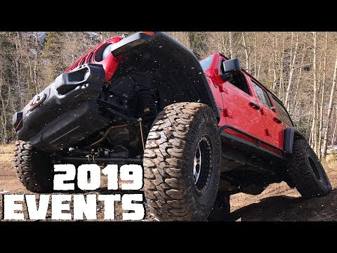 The Official 2019 Event Schedule for the Lite Brite Jeep Wrangler JLU Rubicon