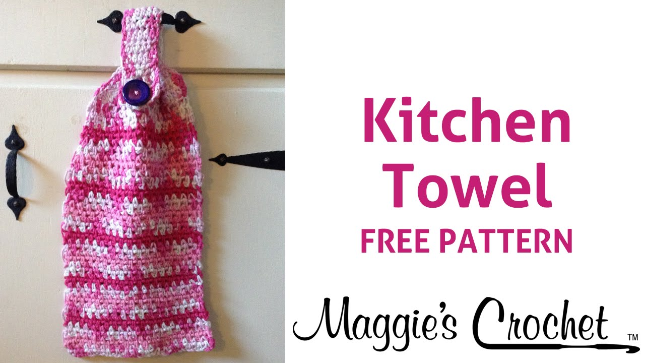 Home Cotton Kitchen Towel Free Crochet Pattern - Right Handed - YouTube