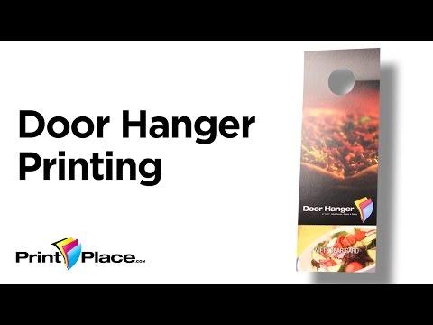 premium door hanger printing high quality cardstock printplace