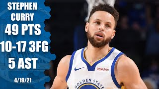 Stephen Curry does it all AGAIN with 49 PTS & 10 3PM vs. 76ers | NBA Highlights