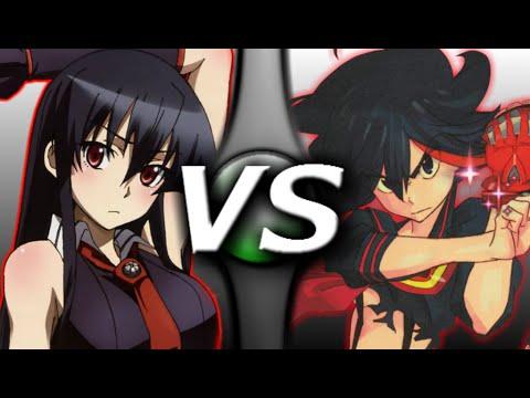 Akame Vs Ryuko Youtube