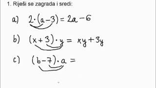 Sređivanje Algebarskih Izraza 8 Razred 2 Dio
