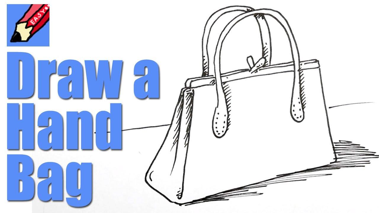 How To Draw A Handbag Real Easy Youtube