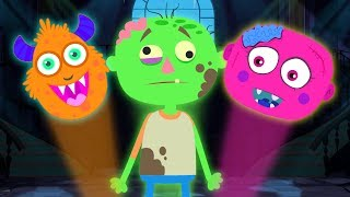 Midnight Magic -Brand New Let's Put The Monster Together Funny Finger Family Songs By ...