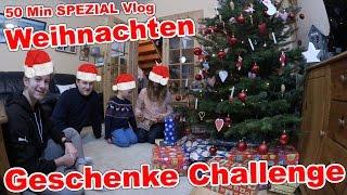Weihnachten SPEZIAL Challenge | 50 Min Geschenke auspacken Vlog TipTapTube
