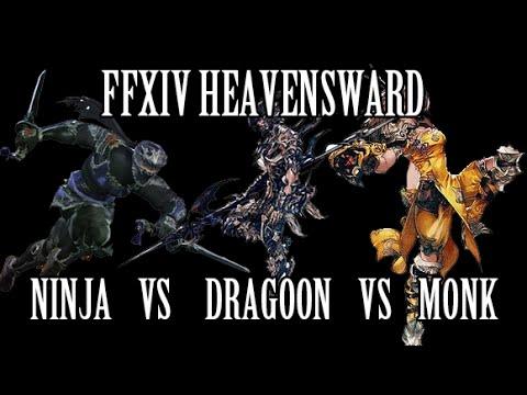 FFXIV Heavensward: Ninja vs Dragoon vs Monk