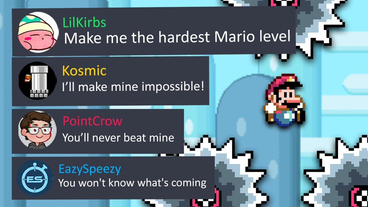 LilKirbs challenged us to make him the HARDEST Mario Maker level