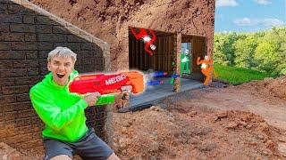 Nerf Blaster Battle Royale Challenge in Underground Backyard Bunker Last to Defeat Mystery Spy