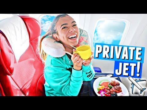 Taking a Private Jet to... BORA BORA!!✈️🌴🌞