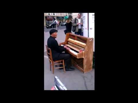 Piano Player on Street in Paris