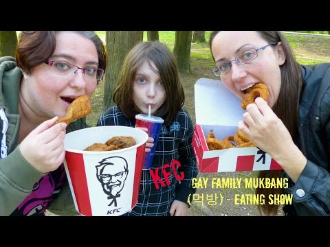KFC/Fried Chicken Gay Family Mukbang (먹방) - Eating Show