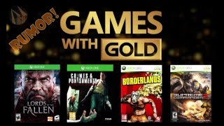 Rumor Games With Gold MarÇo/abril 2016!!!