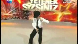 Michael Jackson dance 12 years old stuttering boy Turkey s Got Talent 2009   YouTube