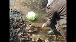 Промывка лотком ч 1
