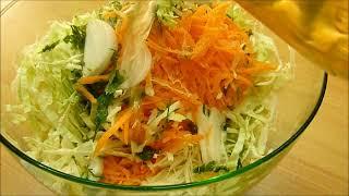 Салат из Капусты Вкусный Insalata di Verza Cruda #salat #салаты(Рецепт Салата из Свежей Молодой Капусты, салат из свежей старой капусты https://youtu.be/YoLP57PHEV0 Популярный и самый..., 2014-07-28T12:55:40.000Z)