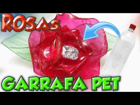 ROSAS FEITAS COM GARRAFA PET   DIY   Viviane Magalhães