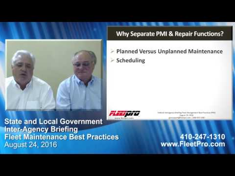 State Procurement Briefing – Best Practices – Fleet Preventive Maintenance & Inspection (PMI)