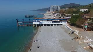 Сочи Лазаревское полет пляж курорта 4К