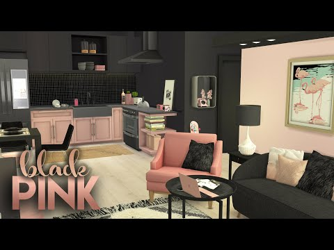 blackpink-apartment-+-cc-list-|-the-sims-4-|-cc-speed-build-|-color-combo-#5