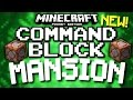 Minecraft pocket edition - self-building mansion! (command block & redstone) android