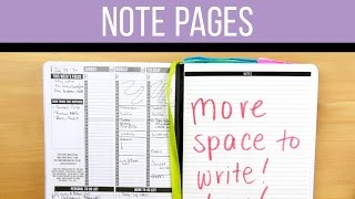 Planner Hack: Extra Note Pages