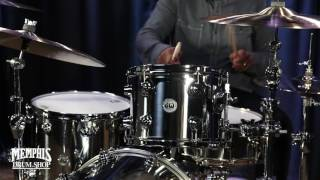 dw collector s series stainless steel drum set 22 12 16