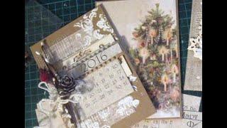МК по скрапу: Настольный календарь на кольцах - подарок к Новому году!(, 2015-12-09T15:49:09.000Z)