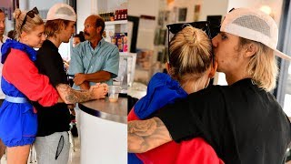 Justin Bieber & Hailey Baldwin cute kissing & hugging in Brooklyn, New York - July 30, 2018