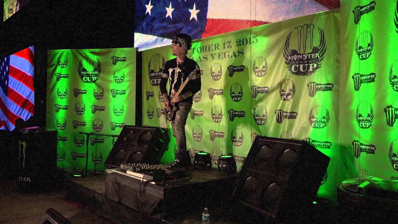 The National Anthem by Dj ASHBA | MONSTER Energy 2015 | Sam Boyd Stadium | Fox Sports