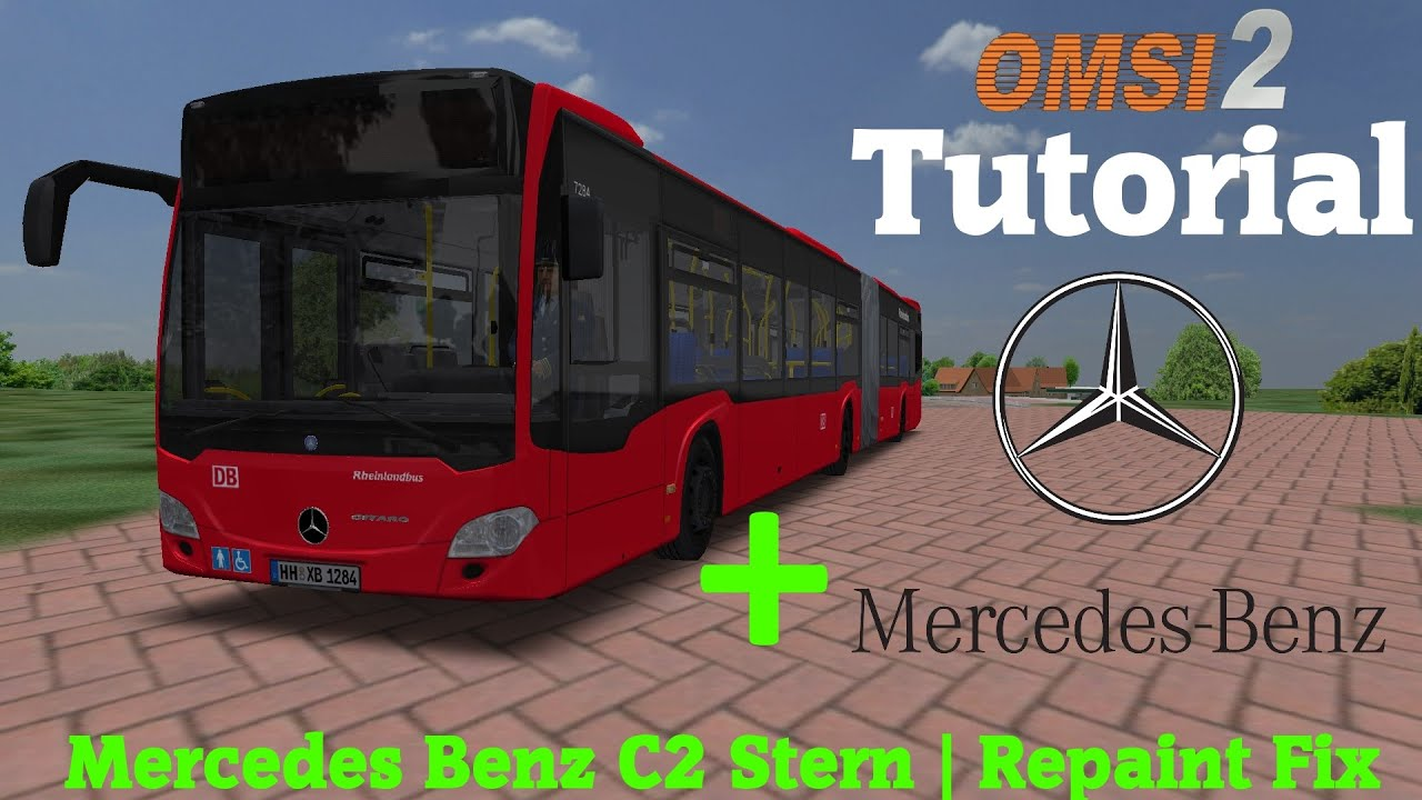 omsi 2 tutorial 60fps mercedes benz c2 stern repaint. Black Bedroom Furniture Sets. Home Design Ideas