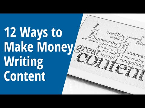 12 Ways to Make Money Writing Content