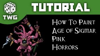 Games Workshop Tutorial: How To Paint Silver Tower Pink Horrors
