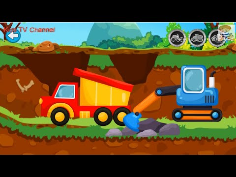 Builder For Kids | Truck Games | Builder Game For Kids | YOVO Games For KIDS | Kids TV Channel