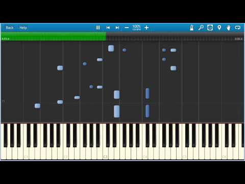The Verve  Bitter Sweet Symphony TUTORIAL piano 100% speed
