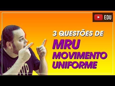 TOP 3 questões de MRU (movimento uniforme) 😱🤣😍 | ENEM e vestibulares
