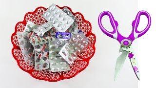 🚲ঔষুধের খালি প্যাকেট দিয়ে এক্সসিলেন্ট ক্র্যাফট আইডিয়া 💜Best Way To Reuse Empty Medicine Packets !