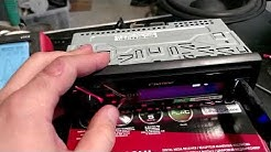 [ENG] Pioneer MVH-S100UI BT MP3 USB AUX FLAC -headunit | Clipping test