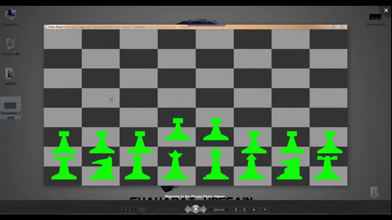 OpenGL - Project Demo with source code: Chess Pieces With ChessBoard