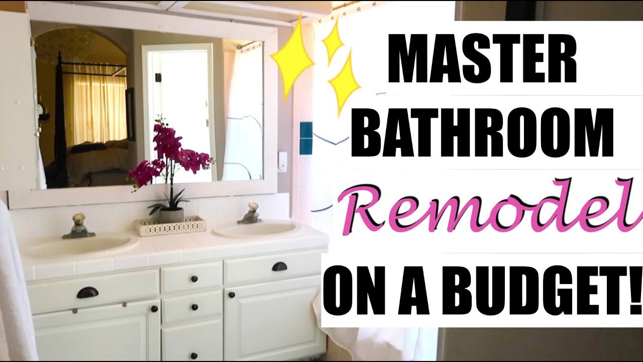 Diy Master Bathroom Remodel On A Budget You