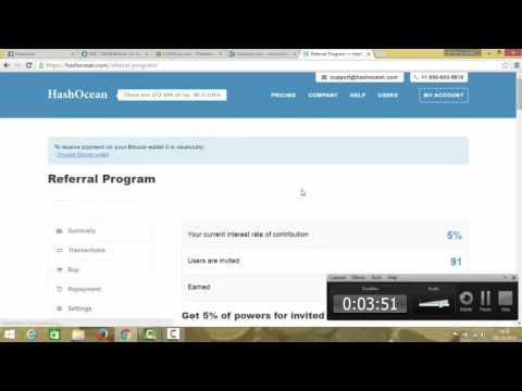 1 bitcoin por semana facil facil hashocean 2016 !!!