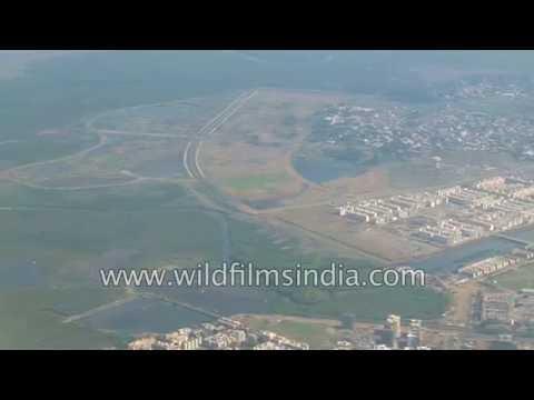 Mangrove swamps and Deccan Traps around Mumbai - aerial views