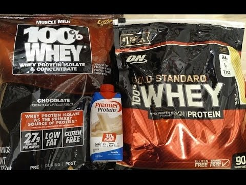 Muscle Milk 100% Whey Protein Isolates Powder vs ON Gold ...