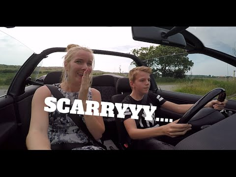 13 year old kids driving a car!!