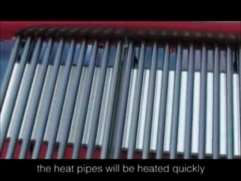 Сборка солнечного коллектора с трубками Heat Pipe