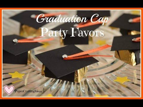 Graduation Cap Candy Favors ~ Paper Crafting Ideas